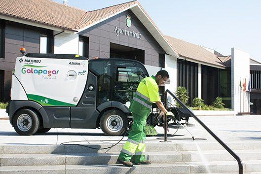 Operativo especial de limpieza en Galapagar