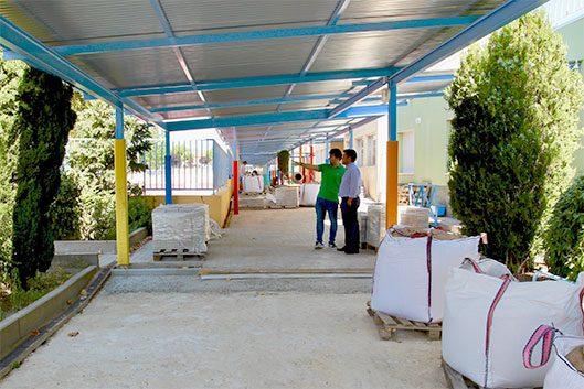 Visita a las obras del Colegio San Gregorio de Galapagar Daniel Pérez Muñoz Alcalde de Galapagar